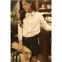 HOT blouse cotton white TERCANTIK dan TERMURAH
