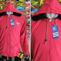 Jaket Adidas Pink Parasut (jaket casual,olahraga)