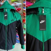 Jaket Nike Hijau Tua Hitam Parasut (jaket casual,olahraga,pria)