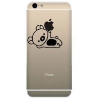 Tokomonster Decal Sticker Apple iPhone - Cute Pedi Bear - 4 Buah