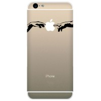 Tokomonster Decal Sticker Apple iPhone - Hand Connecting - 4 Buah
