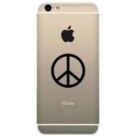Tokomonster Decal Sticker Apple iPhone - Peace Logo - 4 Buah