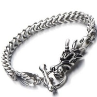 Gelang Naga Dragon Titanium Steel Gelang Pasangan Pria Wanita