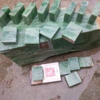 1 keping batu natural giok nephrite jade super asal aceh