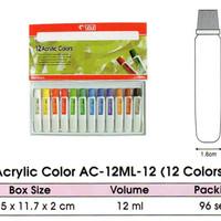 titi cat akrilik acrylic color ac-12ml-12