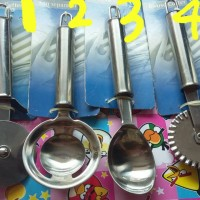 pizza cutter,egg separator, ice cream spoon,bi-use cutter STAINLESS