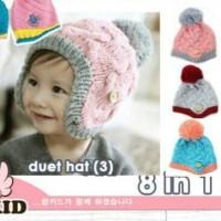 duet hat topi korea anak