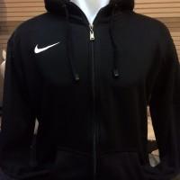 Sweater Zipper Nike Polos Hitam