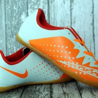 Sepatu futsal Nike Elastico Finale III Orange Silver Anak