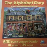 Puzzle antik Made in USA Gambar Rumah