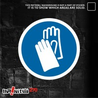 sticker safety sign K3 IMPA gunakan pelindung tangan WSCKP-007