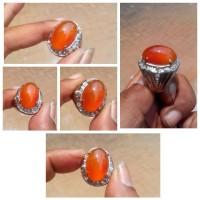 batu akik natural calsedony bengkulu-orange raflesia