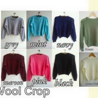 WOOL CROP - BAJU RAJUT KOREA