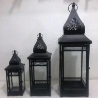 Lentera F /LentaraKubahHitam /Tempat Lilin/Candle