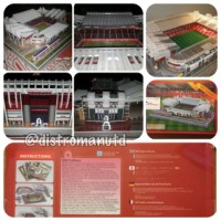 Miniatur Puzzle 3D Stadion Old Trafford Manchester United