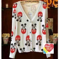 SWEATER MICKEY MOUSE SMILE KANCING