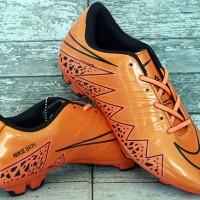 Sepatu Bola Nike Hypervenom II Orange Hitam