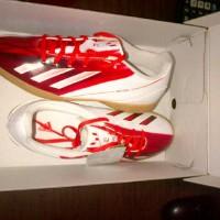 Sepatu futsal original adidas f5 messi merah putih