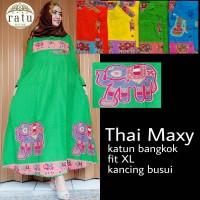 BAJU HIJAB SOLO : THAI MAXY / DRESS KATUN BANGKOK