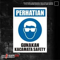sticker safety sign K3 alat pelindung mata 30cm WSKIM-012