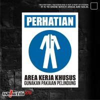 sticker safety sign K3 pakaian pelindung 30cm WSKIM-007