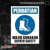 sticker safety sign K3 alat pelindung kaki 30cm WSKIM-017