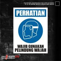 sticker safety sign K3 alat pelindung wajah 30cm WSKIM-011