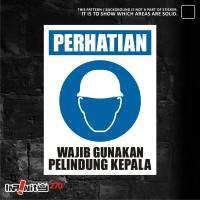 sticker safety sign K3 alat pelindung kepala 30cm WSKIM-015