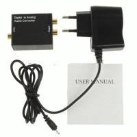 DIGITAL SPDIF TOSLINK TO RCA AUDIO ANALOG L/R converter