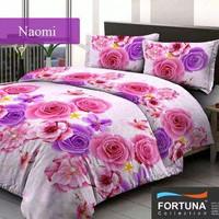 sprei motif bunga besar dominan pink ungu putih