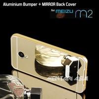 Bumper MEIZU M2 : Aluminium Metal + MIRROR Back Cover