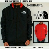 JAKET THE NORTH FACE 2 IN 1 BLACK RED