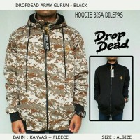 JAKET DROPDED ARMY GURUN -BLACK