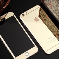 Iphone 5 5s Gold colourful Tempered Glass Mirror antigores kaca warna