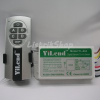 Saklar Remote / Remote Control Switch 4 Way - Yilend