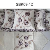 Sarung Bantal Kursi Batik Bordir Daun
