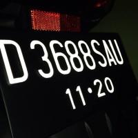 Sticker Huruf Plat Nomor Motor Scotlight