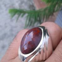 "cincin batu akik LUMUT SULIKI MERAH IX"" _aceh_"