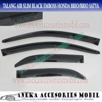Talang Air/Side/Door Visor Slim Honda Brio Black Model Embos
