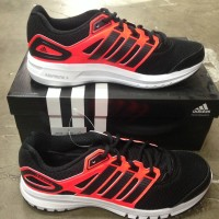 Adidas Duramo 6 Men Hitam Strip Merah Size 40. Sepatu Running