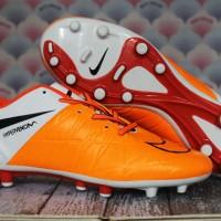 Sepatu Bola/Sepatu Olahraga Nike Hypervenom Phinish Putih Orange