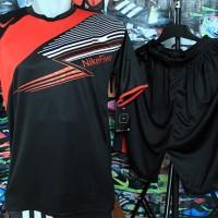 Jual Setelan Kaos Nike Five Hitam Merah Futsal Grosir/Ecer