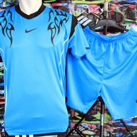 Jual Setelan Kaos Nike Side Birumuda Grosir/Ecer Murah