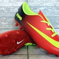 Sepatu Bola Nike Mercurial Vapor IX Hitam Merah