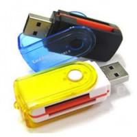 Card Reader 4 Jenis Slot Memory Cardreader