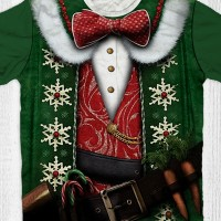 Kaos Santa Sinterklas - Natal Santa Green
