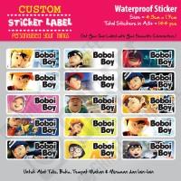 Sticker Label Boboi Boy - Stiker nama waterproof