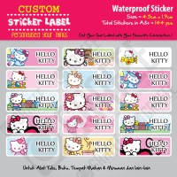 Sticker Label Hello Kitty - Stiker nama waterproof