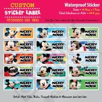 Sticker Label Mickey Mouse - Stiker nama waterproof