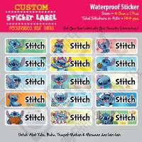Sticker Label Stitch - Stiker nama waterproof